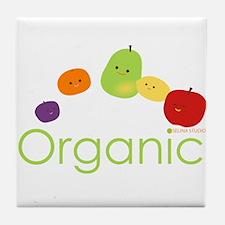 """Organic Fruits 2"" Tile Coaster"