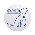 Dog Rescue Newcastle logo Ornament (Round)