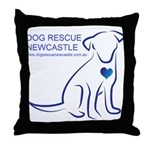 Dog Rescue Newcastle logo Throw Pillow