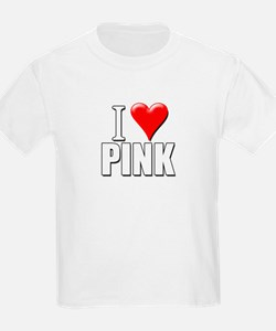 I Love (Heart) Pink Kids T-Shirt
