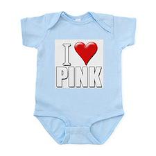 I Love (Heart) Pink Infant Creeper