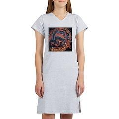 Katsushika Hokusai Phoenix Women's Nightshirt