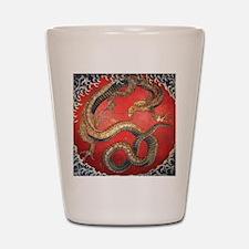 Katsushika Hokusai Dragon Shot Glass