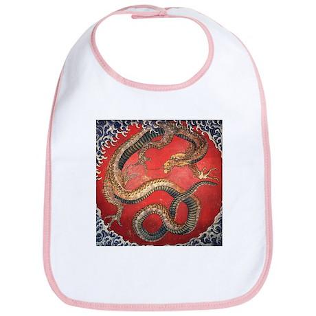 Katsushika Hokusai Dragon Bib