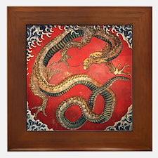 Katsushika Hokusai Dragon Framed Tile