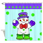 Cute Snowman Shower Curtain