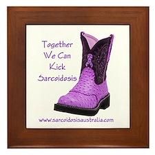 Together We Can Kick Sarcoidosis Framed Tile