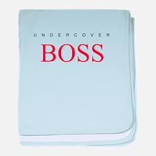 Undercover Boss baby blanket