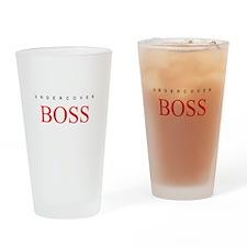 Undercover Boss Drinking Glass