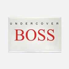 Undercover Boss Rectangle Magnet