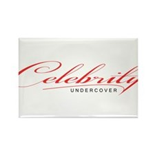 Undercover Celebrity Rectangle Magnet