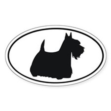 Scottish Terrier Oval Decal