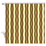 Brown and Tan Zebra Stripes Shower Curtain