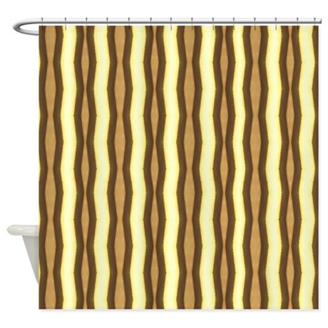 Brown And Tan Zebra Stripes Shower Curtain By Stolenmomentsph