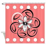 Cool Floral Design Shower Curtain