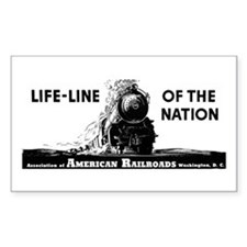 Life-Line Of the Nation 1940 Rectangle Decal