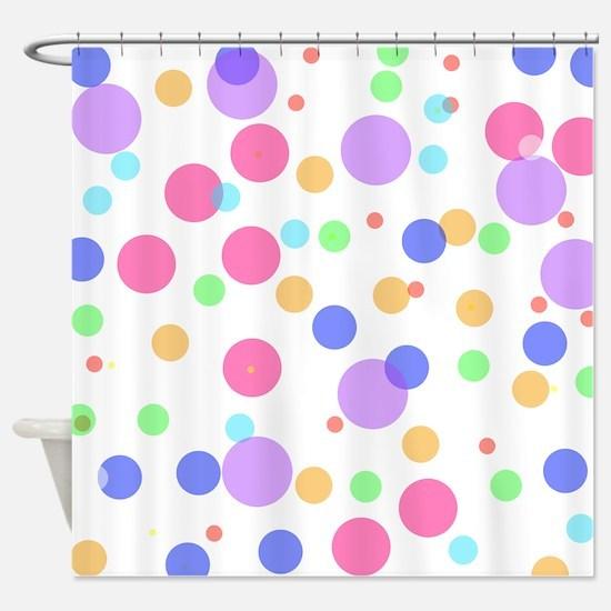 Funky Polka Dots Shower Curtain
