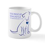 Dog Rescue Newcastle simple logo 2 Mugs