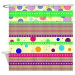 Funky Pattern Shower Curtain
