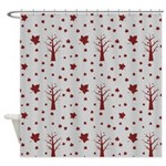 Fall Leaves and Tress Shower Curtain