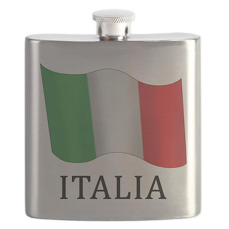 Italia Flag Flask