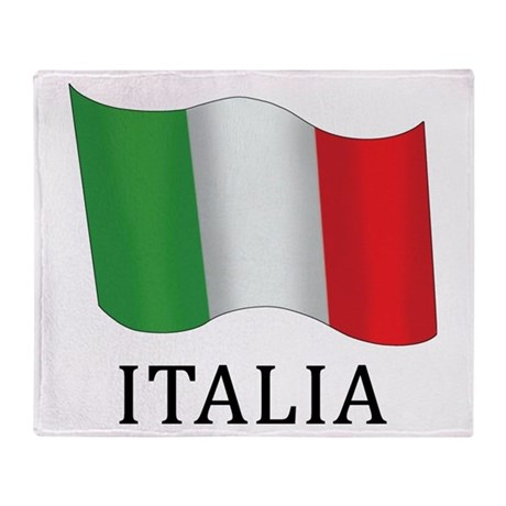 Italia Flag Throw Blanket