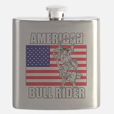 American Bull Rider Flask