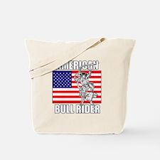 American Bull Rider Tote Bag