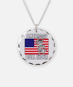 American Bull Rider Necklace