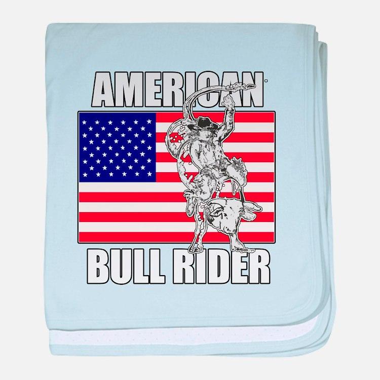 American Bull Rider baby blanket
