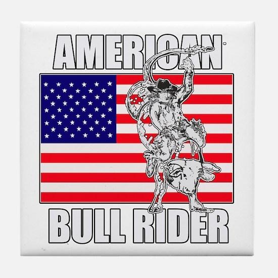American Bull Rider Tile Coaster