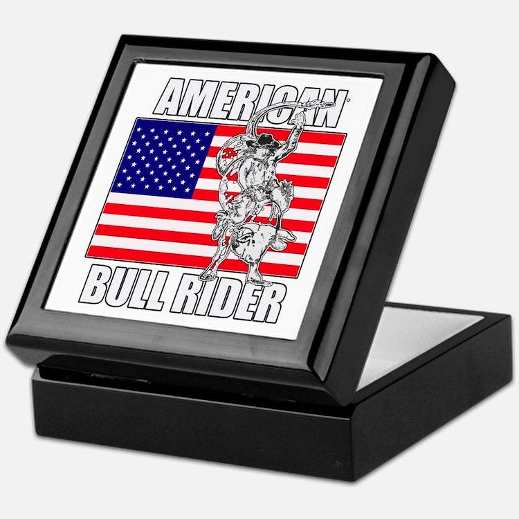 American Bull Rider Keepsake Box