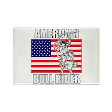 American Bull Rider Rectangle Magnet (10 pack)