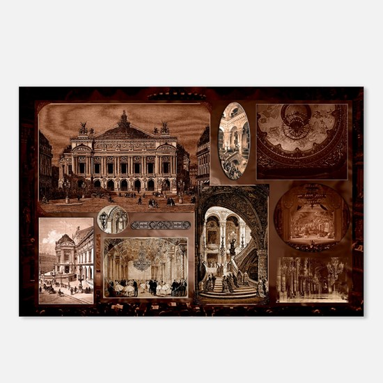 Paris Opera House collage Postcards (Package of 8)