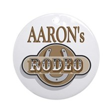 Aaron's Rodeo Personalized Ornament (Round)