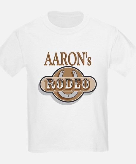 Aaron's Rodeo Personalized Kids T-Shirt