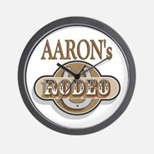 Aaron's Rodeo Personalized Wall Clock