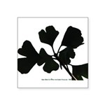 Ginko Tree Leaves Square Sticker 3