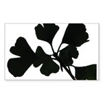 Ginko Tree Leaves Sticker (Rectangle)