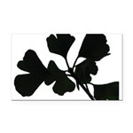 Ginko Tree Leaves Rectangle Car Magnet