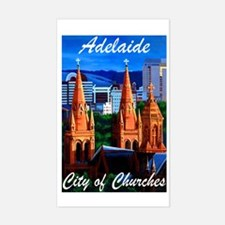 Adelaide City of Churches Rectangle Decal