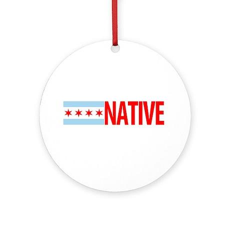 Chicago IL Native Ornament (Round)