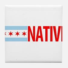 Chicago IL Native Tile Coaster