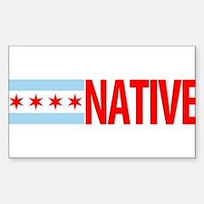 Chicago IL Native Sticker (Rectangle)