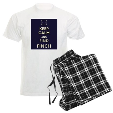Keep Calm and Find Finch (blue background) Men's L