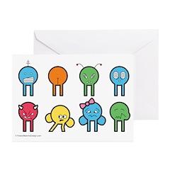 """Card """"mopies"""" (Set of 10)"""