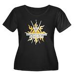 Immortal2 Women's Plus Size Scoop Neck Dark T-Shir