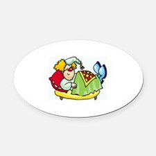 Clown Oval Car Magnet