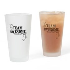 Team Awesome Logo Drinking Glass