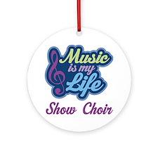 Show Choir Ornament (Round)